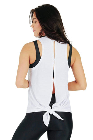Yoga Democracy women's Athleisure yoga Why Knot Top - Available in 2 Colors made from eco-friendly materials