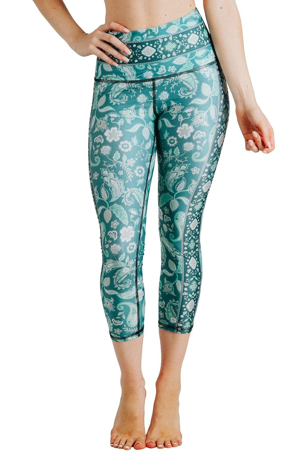 Yoga Democracy Leggings Mint To Be Printed Yoga Crops