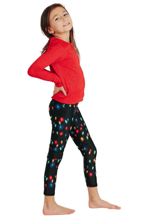 Yoga Democracy Girls Leggings Kids Light Me Up Yoga Leggings