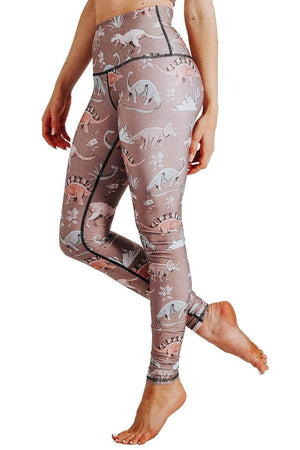 Yoga Democracy  Stokasaurus Printed Yoga Leggings