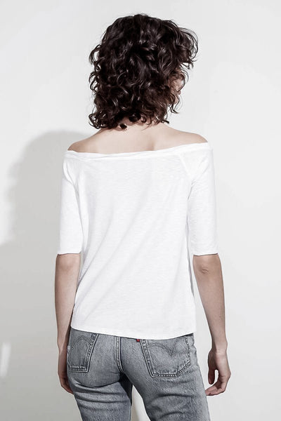 CHELSEA OFF-THE-SHOULDER HALF SLEEVE T-SHIRT