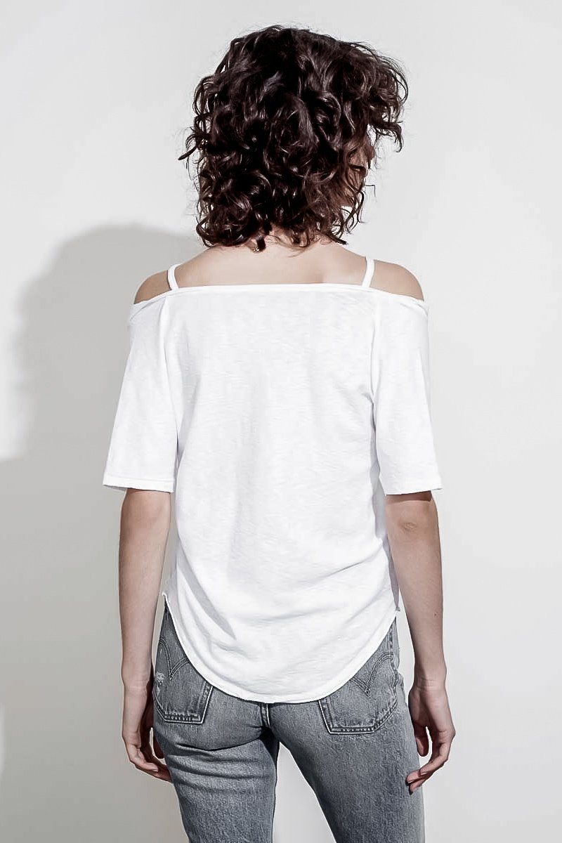 HARLOW OFF THE SHOULDER PIMA COTTON TEE