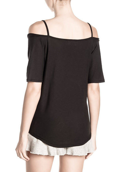 HARLOW OFF THE SHOULDER PIMA COTTON T-SHIRT