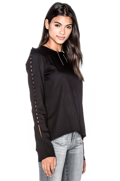 MOROCCAN LONG SLEEVE BUTTON TOP
