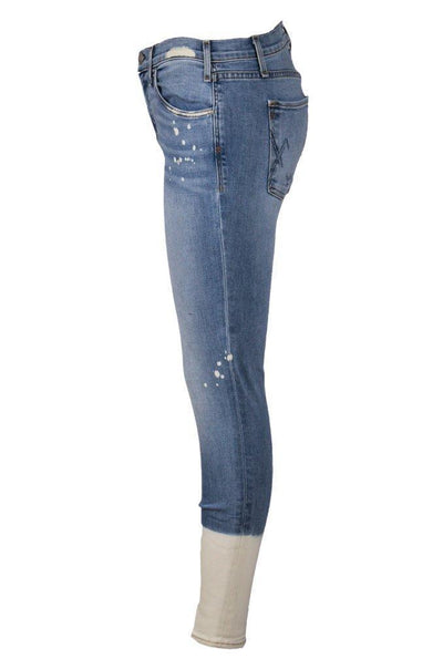 SOLIEL NEWTON LIGHT WASH BLEACH DIPPED SKINNY JEAN