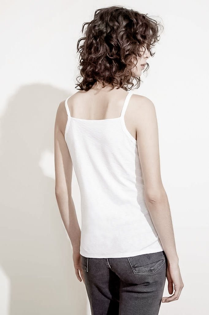 SUGAR HILL V-NECK PIMA COTTON TANK TOP CAMI