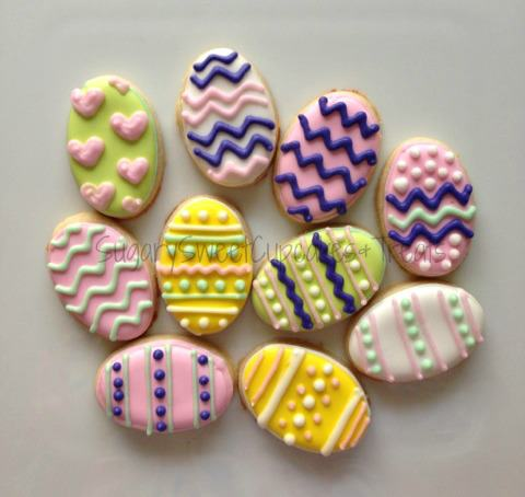 Mini Easter Eggs (24 cookies)