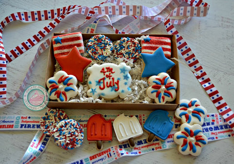 4th of July mini cookies (12 cookies)
