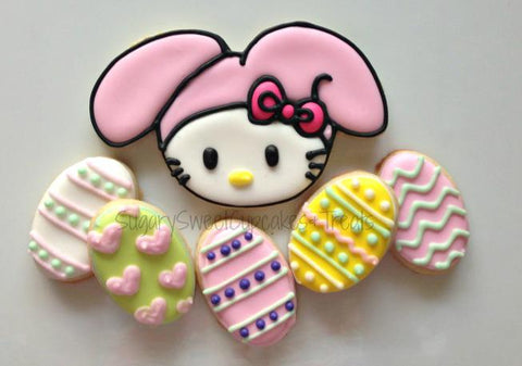 Easter Kitty (7 Cookies)