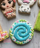 Baby Moana themed cookies (24 cookies)