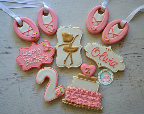Ballerina Birthday Party! (24 cookies)