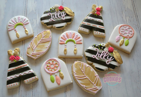Boho Birthday Set (24 cookies)