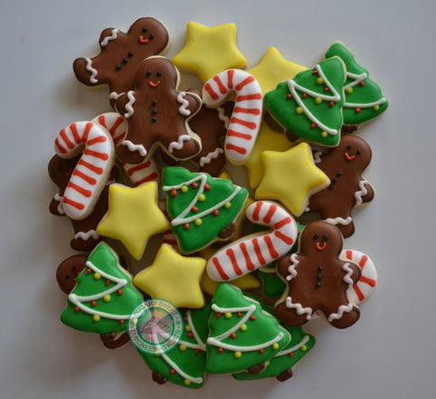 Mini Christmas Themed cookies #2 (36 cookies)
