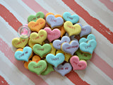 Mini Conversation Hearts (24 cookies)