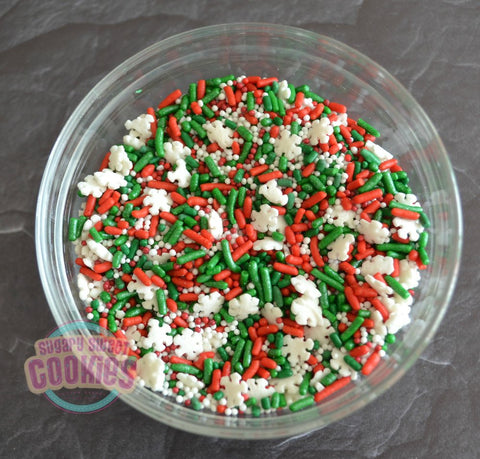 Traditional Snowflake- Sprinkle Mix