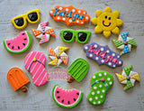 Bright Summer Fun! (24 cookies)