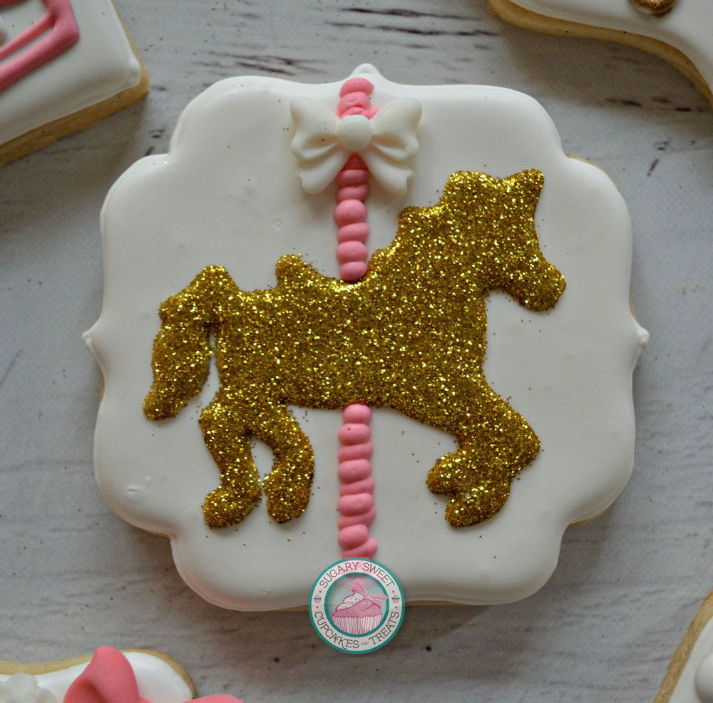 12 Carolsel Horse Cookie Party Favors