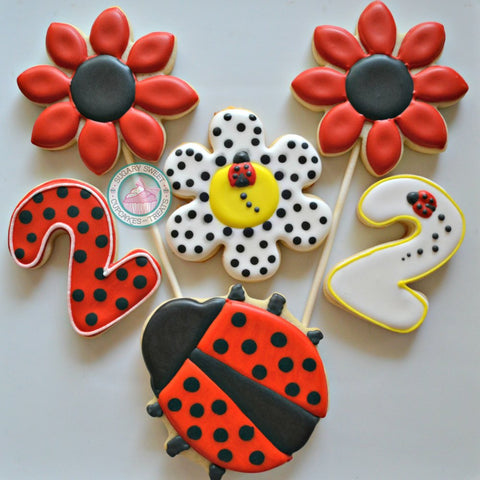 Ladybug Birthday Set (24 cookies)