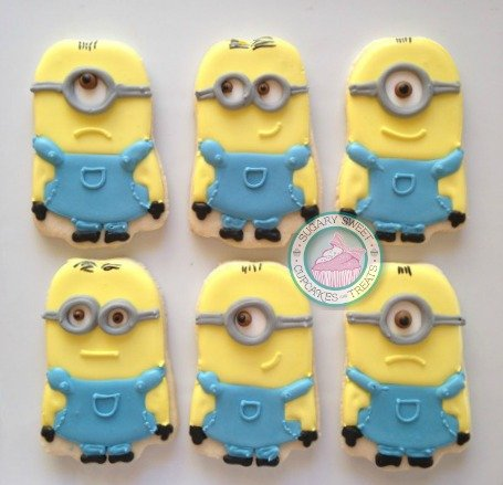 Minions (12 cookies)