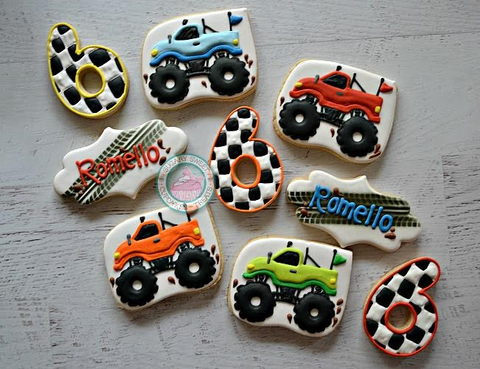 Monster Truck Rally! (24 cookies)