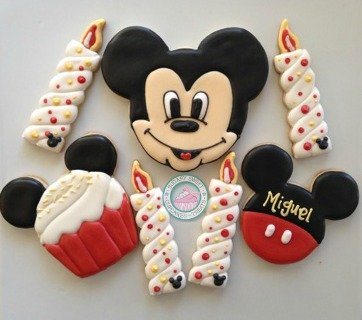 Mickey Mouse Birthday (15 cookies)