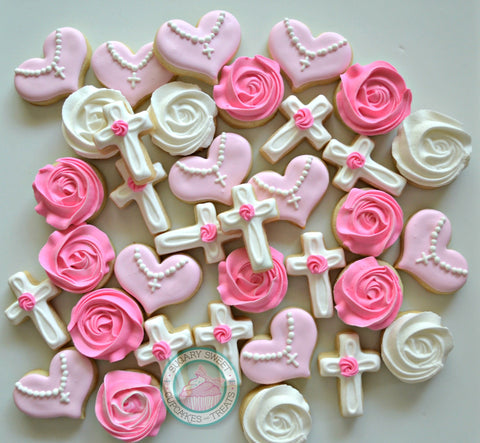 Mini First Communion/Baptism cookies (48 mini cookies)