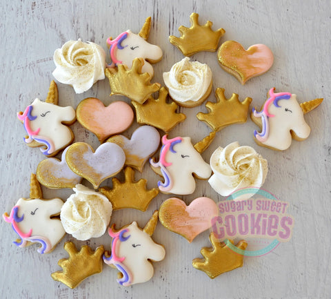 Mini Unicorn Love (48 mini cookies)