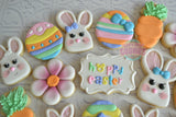 Hoppy Easter!! (12 cookies)