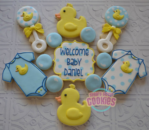 Rubber Ducky Baby (24 cookies)