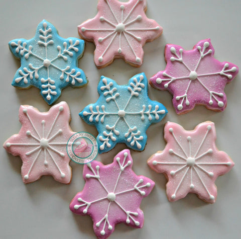 Sparkly Snowflakes (24 cookies)