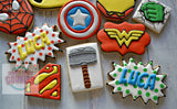 Super Hero cookies! (27 cookies)