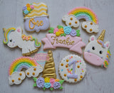 Unicorn Birthday Set (24 cookies)
