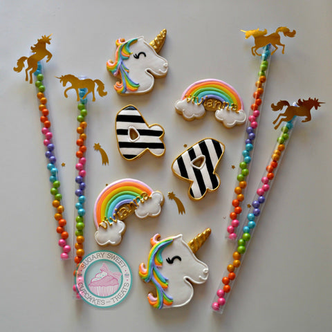 Unicorn Birthday #2 (24 cookies)