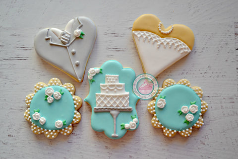 Fancy Wedding Set (12 cookies)