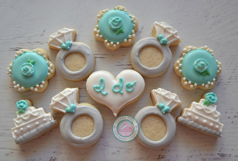 Wedding Themed mini cookies (48 cookies)
