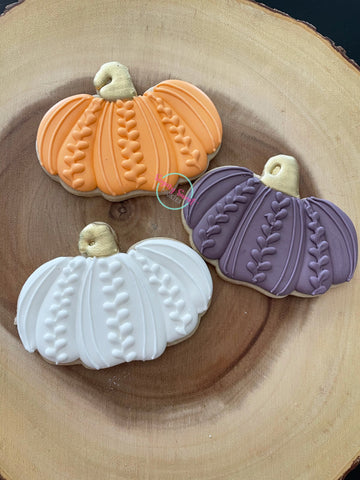 Pumpkin sweaters (1 cookies) regular sized