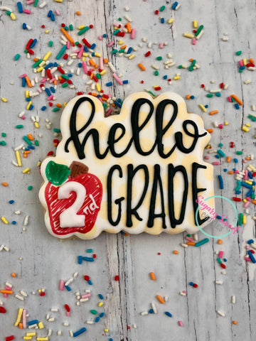 Hello second Grade- 1 Large Plaque