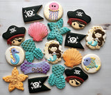 Pirates and Mermaids! (24 cookies)