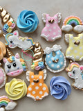 Mini Unicorn Baby Shower (48 cookies)