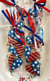 Patriotic hearts (3cookies) one sleeve