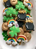 St. Patrick's Day minis! (1 sleeve; 4 mini cookies)