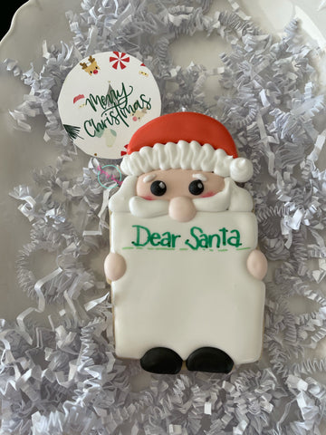 Dear Santa  (Single Large plaque)