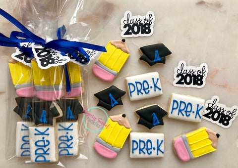 Preschool graduation sleeves! (3 cookies each)