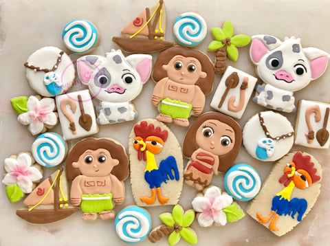Moana party!! (36 cookies)