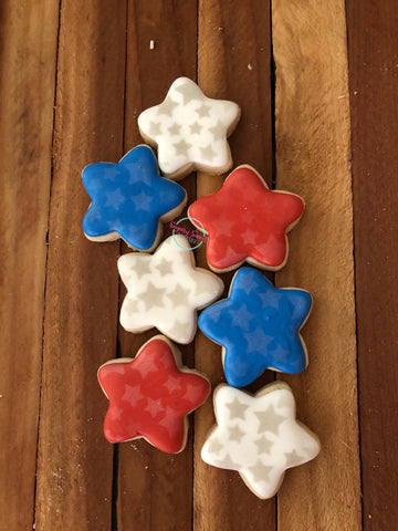 Red and white stars minis (3cookies)