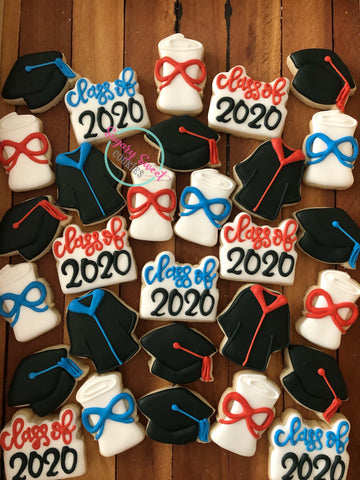 Graduation minis with tag! (4 cookies)