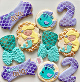 Mermaid Birthday (24 cookies)