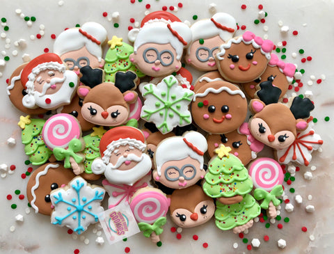 Santa fun! (24 mini cookies)
