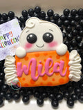 Ghost name plaque (single large cookie)