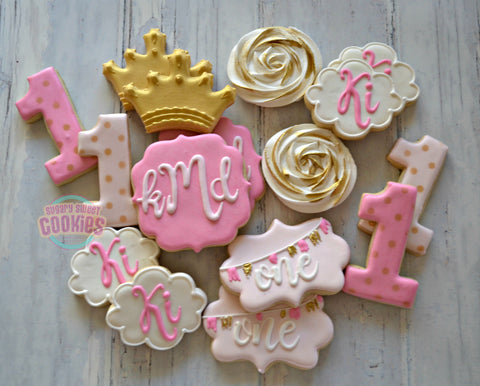 Monogrammed Birthday Set (24 cookies)